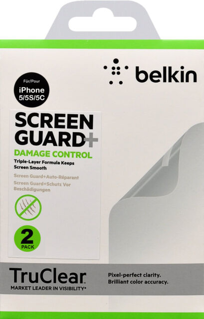 Details about Belkin TruClear Screen Guard Protector damaged Control for  iPhone SE 5 5S 5C X 2
