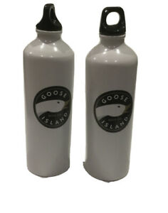 BRAND NEW GOOOSE ISLAND BEER Company Metal Water Bottle White WASHABLE
