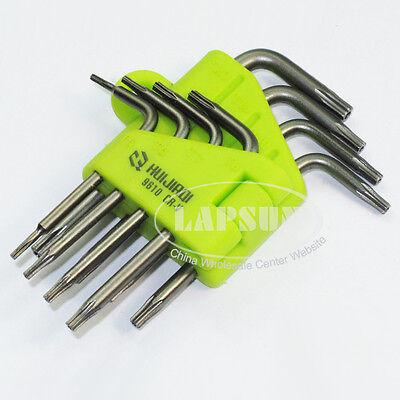TORX CRV Screwdriver Set T5 T6 T7 T8 T9 T10 T15 T20  Star Wrench Tools Kit 9610