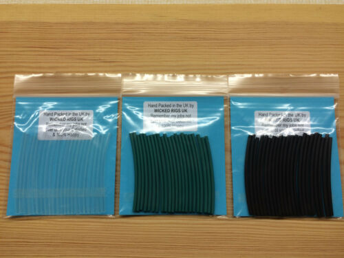 . Rig Tubing Heat Shrink in various colours /& sizes in 20 x 50mm lengths 1meter