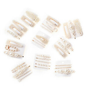 Pearl-Hair-Clips-Slide-Hair-Pin-Chunky-Barrette-Bridal-Hair-Accessory-Gift-Set