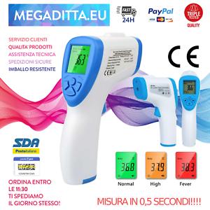 Termometro-Digitale-Frontale-A-Infrarossi-per-Febbre-Senza-Contatto-Auricolare