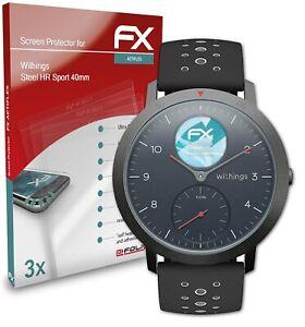 atFoliX 3x Protective Film voor Withings Steel HR Sport 40mm duidelijk&flexibel