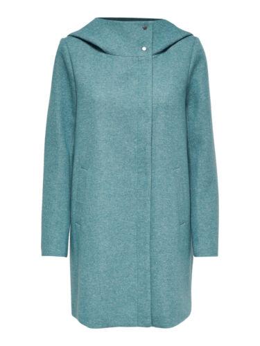 Only-da donna in lana-Cappotto onlmaddy LIGHT HOODED LONG COAT grande cappuccio Modern caldo