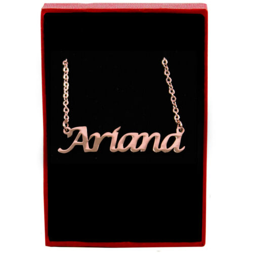 Rose Gold Name Necklace Personalized Jewellery Girls Women Designer Ariana