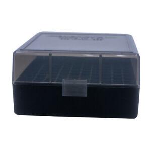357 BUY 5 GET 1 FREE BERRY/'S PLASTIC AMMO BOX SMOKE//BLACK 50 Round 38