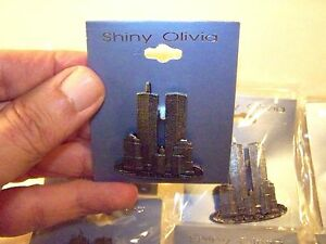 World-Trade-Center-Pin-WTC-Vintage-6-pins-lot