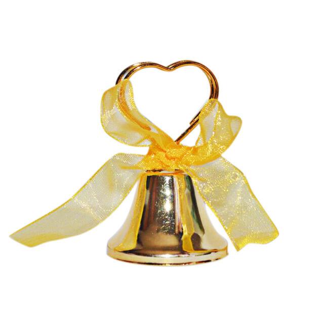 60x campanelle tirabaci ORO ANNI colore dorato matrimonio segnaposto segnatavolo