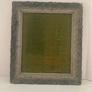 Antique-Wood-Gesso-13-X-10-Ornate-Floral-Wood-Picture-Frame