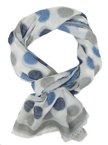 e3e3012da21ed1 Das Bild wird geladen Damenschal-Punkte-ivory-grau-blau-by-Ella-Jonte-