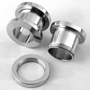 2pcs-00G-Stainless-Steel-Ear-Tunnel-Plug-Stretcher-Flesh-Expander-Screw-Piercing