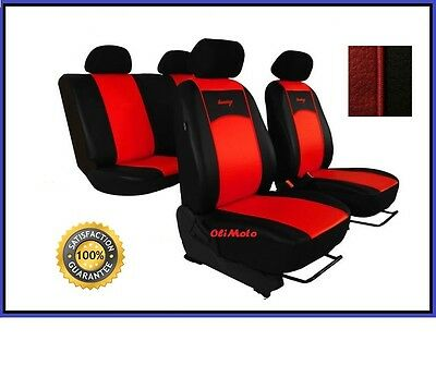 Car Seat Covers fit Opel Astra G Rosso//Nero Sport Stile Set Completo