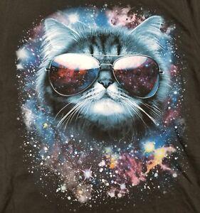 Galaxy Kitten Aviator Glasses Men's Small T-Shirt Cat Space Travel Intergalactic   eBay
