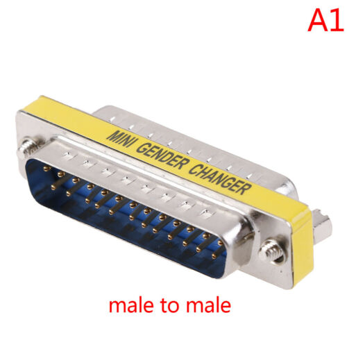 DB25 D-Sub 25pin Connectors Mini Gender Changer Adapter RS232 Serial ConnectAB