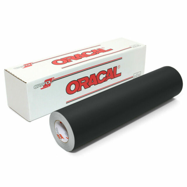 Punches and Vinyl Sign Cutters 12 x 10 ft Roll of Matte Black Repositionable Adhesive-Backed Vinyl for Craft Cutters