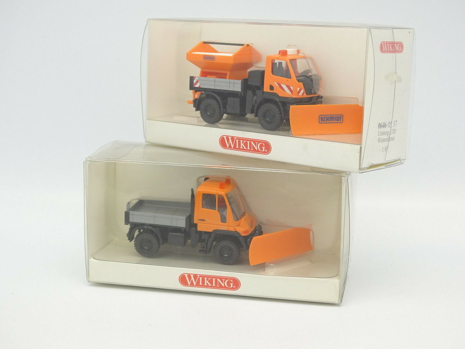 Wiking 1 87 HO - Set of 2 Mercedes Unimog U20 - U400 - Hunting Snow Wnterdienst