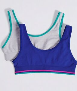 Pack of 2 Trimfit Girls Crop Top with Built Up Straps