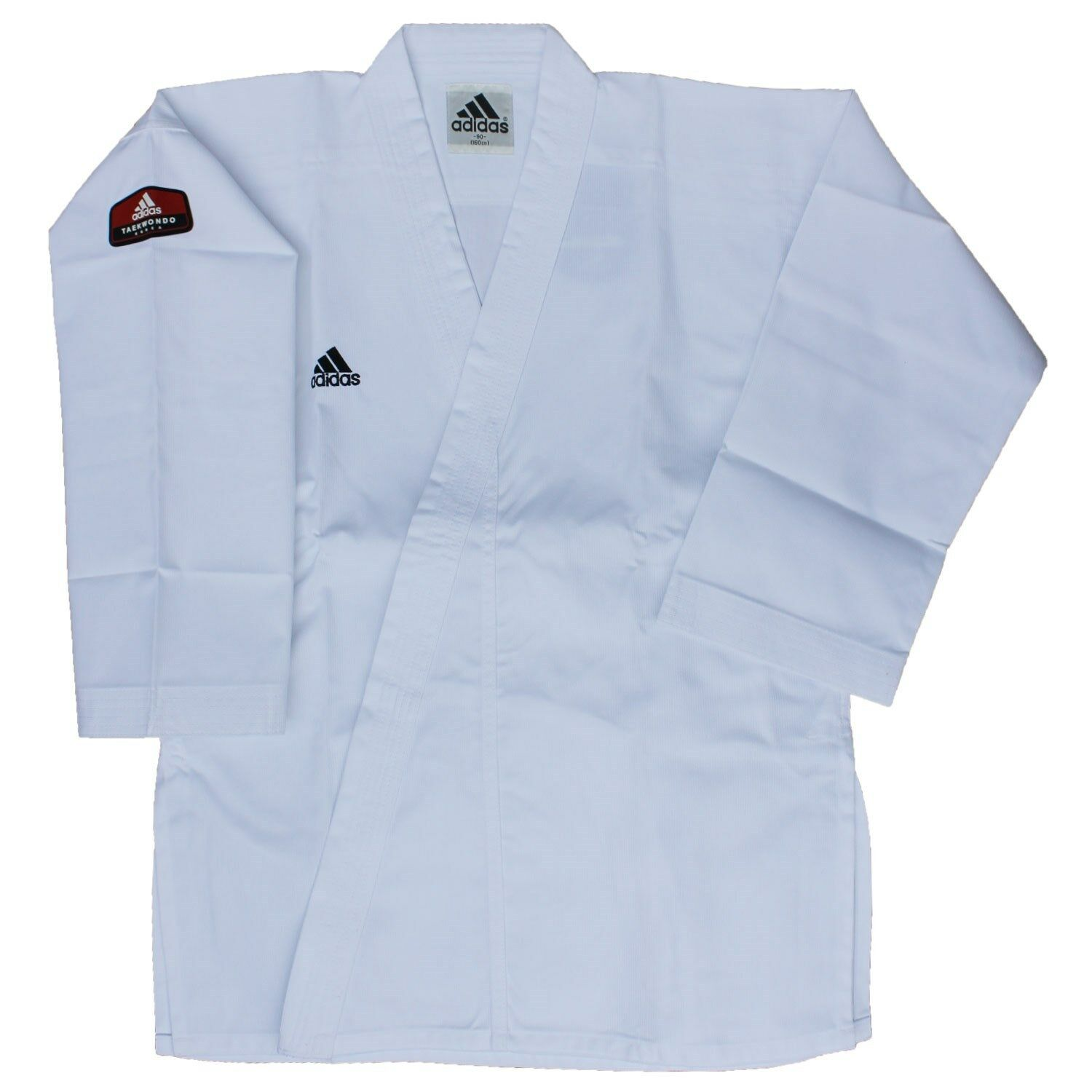 180cm New adidas Taekwondo Uniform ADICHAMP3 Uniform Set w//WHITE V-Neck size 4