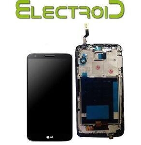 RICAMBIO-LCD-DISPLAY-VETRO-TOUCH-TOUCHSCREEN-ASSEMBLATO-LG-G2-D800-NERO-SPED24H