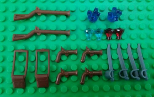 *NEW* Lego Musket Rifles Long Pistols Swords Gems Crystals for Minifigs Figures
