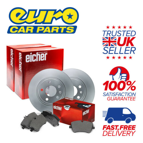 2x Disc 1x Pad Set Eicher Rear Brake Kit JD Combi A - VAUXHALL MOVANO Mk I