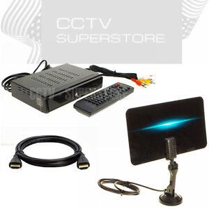 hdtv digital converter box flat digital indoor tv antenna