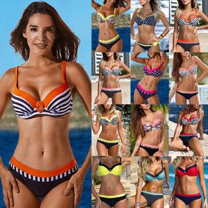 0a7e883ece US Women Swimwear Bandage Bikini Set Push-up Padded Bra Bathing Suit ...