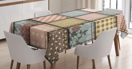 Shabby Flora Tischdecke Quadratische Stücke Tile Maschienenwaschbar