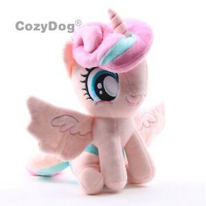 Cartoon-Flurry-Heart-Plush-Toy-Horse-Soft-Stuffed-Animal-Doll-Unicorn-Figure-New