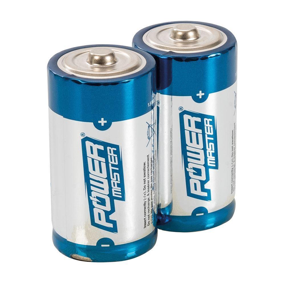 Durable high performance type c super alkaline battery lr14 2pk 0% mercury