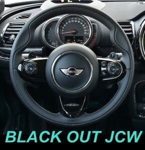 USA-STOCK-Gloss-Piano-Black-JCW-Steering-Wheel-Trims-MINI-Cooper-F55-F56-F57-F60