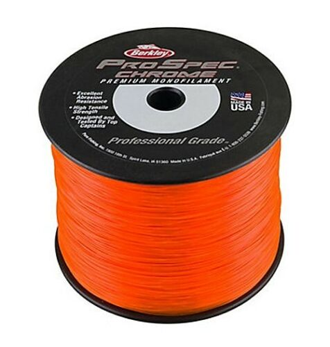 Berkley ProSpec Chrome Premium Mono Fishing Line 30 lb Test 1480 Yd Blaze Orange