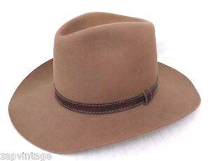 10503902b8b Image is loading Vintage-Resistol-Silverwoods-Brown-Felt-Cowboy-Mens-Hat-