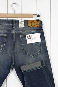 Neuf LEE 101 Rider Jeans lisières 341ml fin Conique L32 L34 toutes ... bb9c523453dd