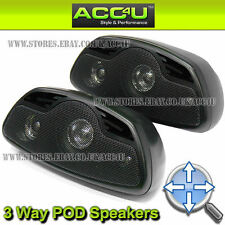 Car Van Motorhome Caravan Home Shelf Mount 3 Way Bass Reflex Pod Speakers Set