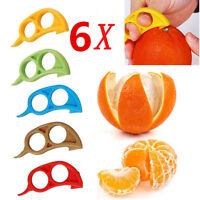 6x Easy Opener Grapefruit Lemon Orange Peeler Slicer Cutter Plastic Kitchen Tool