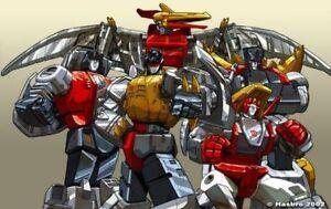 """Transformers Poster Dinobots génération 1 groupe 27/"""" X 39.5/"""" PAT LEE Dreamwave"""