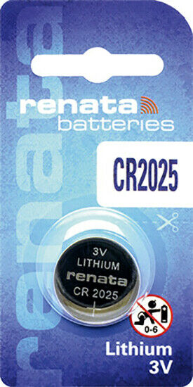 1 x Renata CR2025 Batteries, Lithium Battery 2025 | Shipped from Canada