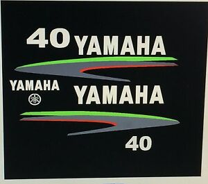 Yamaha 40 50 60 hp outboard decal custom lime green for Custom outboard motor decals