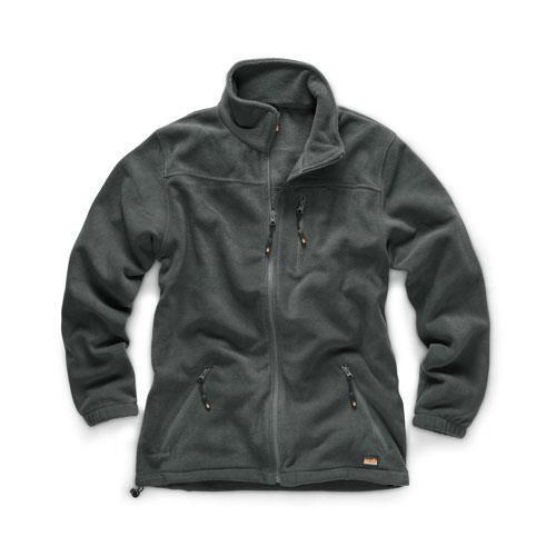 Men/'s Water Resistant Work Jacket Grey Scruffs WORKER Fleece Black All Sizes