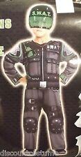 SPECIAL OPERATIONS FORCE SWAT JUMPSUIT W/ HELMET BOYS SIZE LRG HALLOWEEN COSTUME