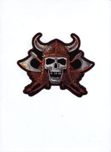 Aufnäher Patch Modell Viking Skull Größe ca 15,2 cm auf 12,8 cm