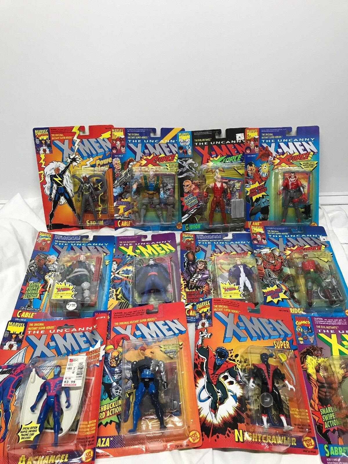 Vintage 1991 Top Biz Marvel Xmen l'étrange Lot de 12 non ouvert les paquets