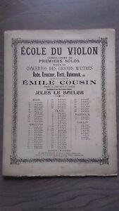 Scuola-Del-Violino-Emile-Cuscino-J-Il-Boulch-Concertos-Spartiti-2-Persiane-Be