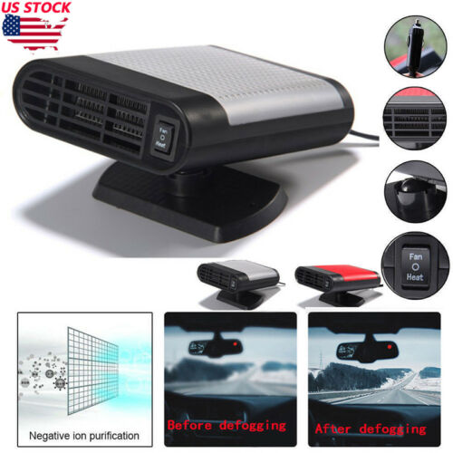 200W Car Portable 2 in 1 Ceramic Heating Cooling Heater Fan Defroster Demister