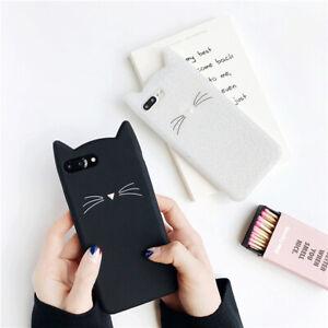 Cat-Full-Protective-Case-Cover-Casing-iPhone6-6sPlus-7-8Plus-X-XS-Soft-l-Chic