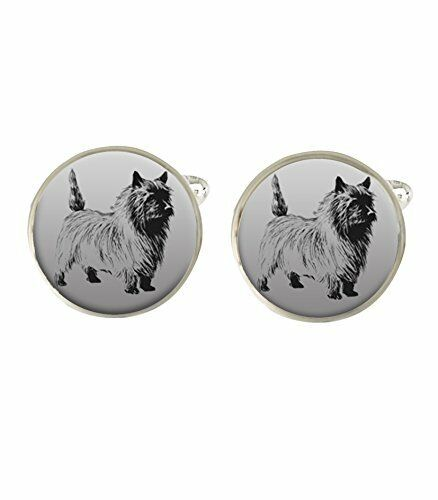 Cairn Terrier Dog Mens Cufflinks Ideal Birthday Fathers Day Gift c458