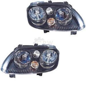 Scheinwerfer-Set-VW-Touran-Typ-1T-Bj-01-2003-2006-schwarz-H7-H7-2RA