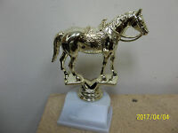 Equestrian Western Horse Award Or Trophy, About 6.5 Tall, W/ Engraving