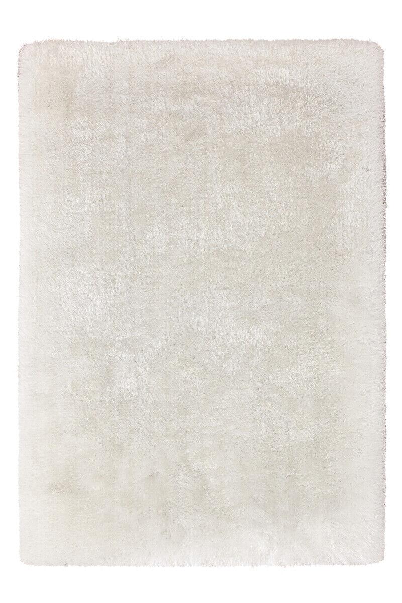 Tapis d'un épais Shaggy Douillet doux Artisanale Ivoire Blanc 200x290cm